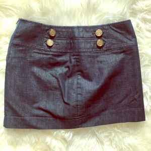 Denim Mini with Gold accent buttons
